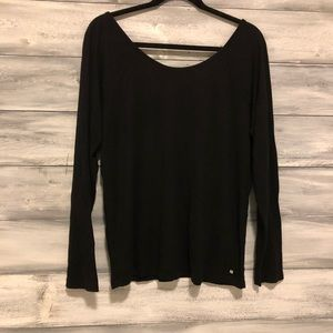 Fabletics black Long-Sleeve with partial open back